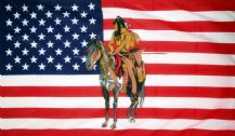 USA INDIAN & HORSE - 5 X 3 FLAG